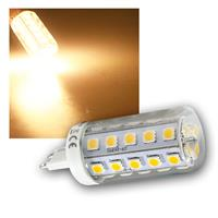 Leuchtmittel G9, 34x 5050 SMD LEDs, 400lm warmweiß