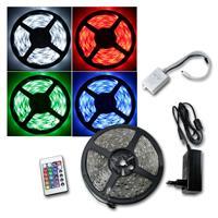 LED strip complete set, 150 SMD LEDs, RGB, 5m
