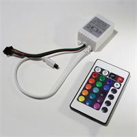 LED Streifen mit RGB Controller und IR Fernbedienung