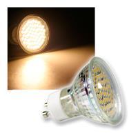 LED Strahler | 60x 3528 SMD LEDs | GU10 | warmweiß | 3W