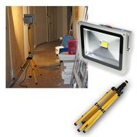 LED-Baustrahler/Fluter 30W mit Stativ IP44 2200lm
