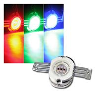LED Highpower Chip 10W RGB, ROUND, 350mA je Farbe