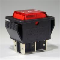 2-poliger Wippschalter für Snap-In Montage als Ein/Aus-Schalter