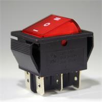 Miniaturschalter mit einer Schaltleistung von maximal 250V/15A