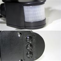 Bewegungsmelder mit einstellbarer Leuchtdauer und Erfassungsbereich