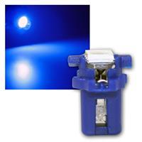 PNP LED Birne B8.3d BAX10s T5 blau Lampe 12V