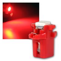 PNP LED Birne B8.3d BAX10s T5 rot Lampe 12V