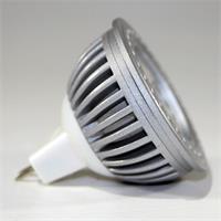 LED Spot MR16 COB mit geripptem Alu-Kühlkörper und dem Maß 50x50mm