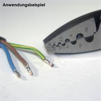 Werkzeug zum Quetschen von  isolierte und unisolierte Aderendhülsen