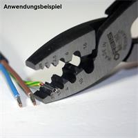 Quetschzange für Hülsen mit Querschnitt von 0,5 bis 16mm²