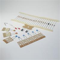 Bausatz für Klatsch-Schalter, enthält verschiedene Widerstände