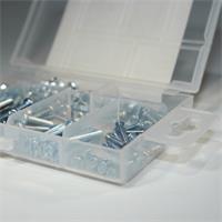 Sortimentskasten mit Verschluss-Klipp und praktischer Aufhängung