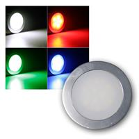 "Einbauleuchte ""EBL Slim"" IP67 6 LEDs RGB, Alu-matt"