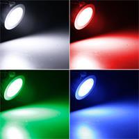 LED Einbaustrahler mit 6 RGB-LEDs und ca. 25lm Lichtstrom