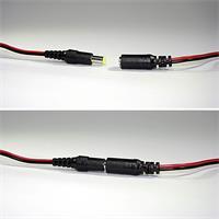 DC Steckverbinder zur Schaffung einer lösbaren Verbindung