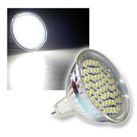 LED-Strahler 60x 3528 SMD LEDs MR16 kalt-weiß 2,5W