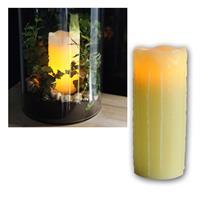 """Echtwachs LED Kerze """"Stumpen"""" 20x8cm, amber LED"""