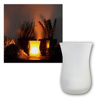 LED Windlicht / Kerze 8x5cm Anpusten/Anschütteln