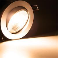 230V LED Einbaustrahler schwenk- und drehbar mit starken 450lm Lichtstrom