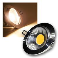 "LED Einbauleuchte ""COB-10"" silber 10W 600lm warm"
