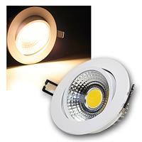 LED Einbauleuchte | COB-7 | weiß | 7W | 450lm | warmweiß