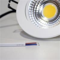 LED Downlight für 230V mit ca. 7W Verbrauch und losen Kabelenden