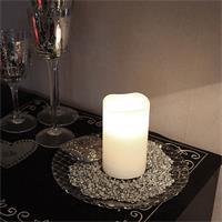 LED Stumpenkerze mit Echtwachs für Ihr Dekorationskonzept
