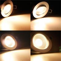 Warmweiß-leuchtende COB-LED Einbauleuchte