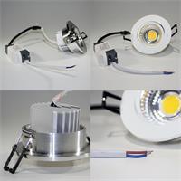 COB-LED Einbauleuchte mit Aluminium-Gehäuse