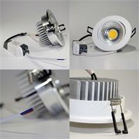 COB-LED Einbauleuchte mit Befestigungsklemmen