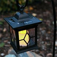 Flackernde LED-Laterne mit Solarpanel