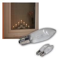 LED E10 Leuchtmittel | klar | 3er Pack | 10-55V | warmweiß