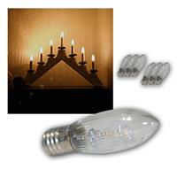 LED E10 candle light bulbs | 7 pack | 10-55V | warm white