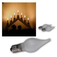 3x E10 candle light bulbs | each 10-55V/ 0.2W | warm white