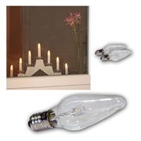 3x candle light bulbs | E10 | each 0.2W | warm white | clear