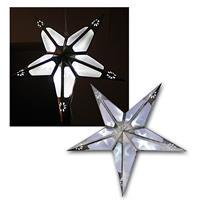 LED Stern Weihnachtsstern Leuchtstern Silber