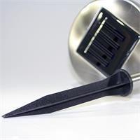 2er Set Gartenleuchten mit Solarpanel