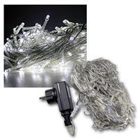Außen-Lichterkette mit 200 LEDs kaltweiß IP44, 30m