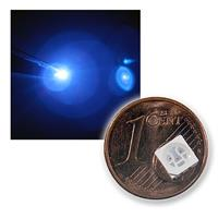 10 SMD LED's in 5050 design, blue, crystal clear