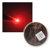 10 SMD LEDs 5050 Rot, 3-Chip, Highpower 610-630nm