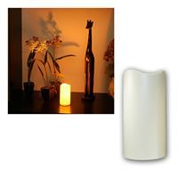 LED Kerze, Höhe 15cm, mit Timer, Ø7,5cm, für Außen