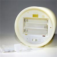 batteriebetriebene LED Kunststoffkerze mit Timer für mehr Komfort