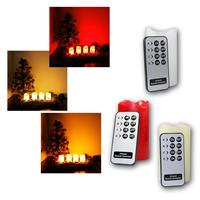 Set of 4 LED Advent candles with remote control