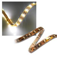 5m Flex SMD Stripe LED IP65 kalt-weiß / PCB-braun