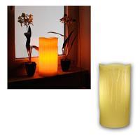 """Echtwachs LED Kerze """"Stumpen"""" 30x15cm, amber LED"""