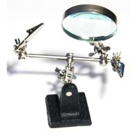 Third hand with 2-fold magnifying glass