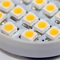 runde LED G4 12V mit 24x 3528 SMD LEDs als energiesparender Ersatz für Schreibtischlampen