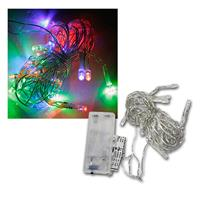 LED Lichterkette, 20 bunte LEDs Batteriebetrieb
