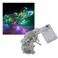 LED Lichterkette, 50 bunte LEDs Batteriebetrieb