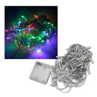 LED Lichterkette, 100 bunte LEDs Batteriebetrieb